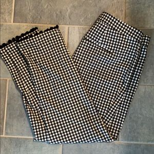 New black and white gingham fitted work pants
